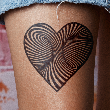 Through the Heart by Felipe Sena is a Hearts temporary tattoo from inkbox - main