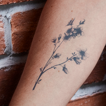 Boraliea by inkbox is a Flowers temporary tattoo from inkbox - main