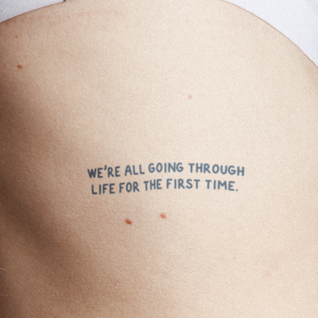 First Life by Melina is a Quotes temporary tattoo from inkbox - main