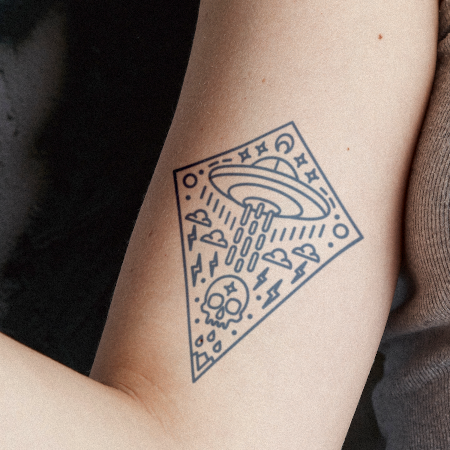 Spoosi by nickbaileydesigns is a Geometric temporary tattoo from inkbox - compliment