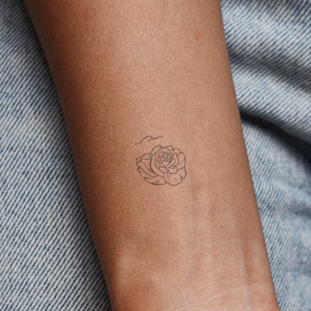 Kaunis by Xixi Wang is a Flowers temporary tattoo from inkbox - main