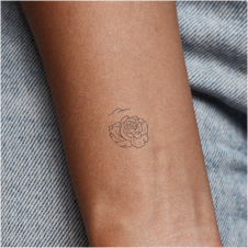 Kaunis by Xixi Wang is a Flowers temporary tattoo from inkbox - compliment