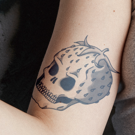 Skullberry by Heba Sidahmed is a Random temporary tattoo from inkbox - compliment