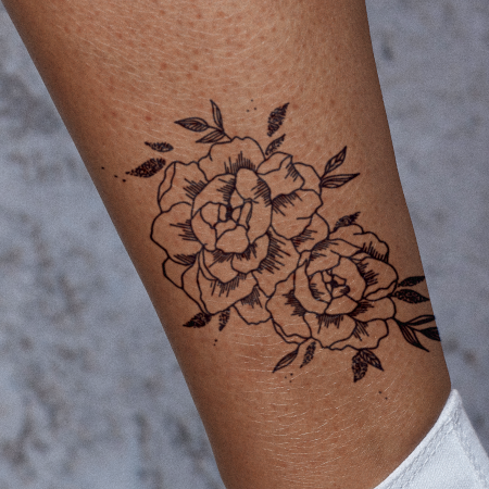 Floral Falloff by Britney Olivares is a Flowers temporary tattoo from inkbox - compliment