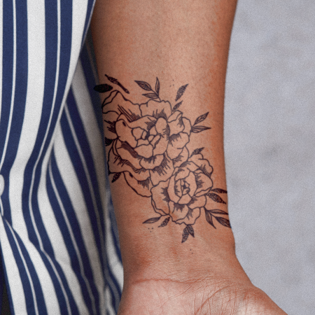 Floral Falloff by Britney Olivares is a Flowers temporary tattoo from inkbox - main