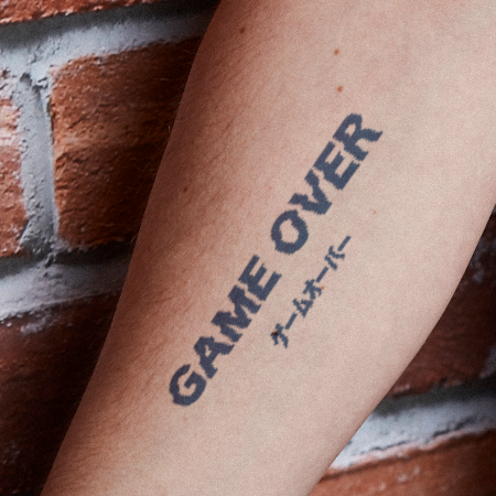 Game Over by Karen Santora is a Gaming & Fandom temporary tattoo from inkbox - main
