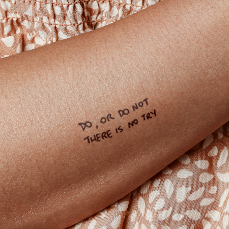 Yoda by sketchnate is a Quotes temporary tattoo from inkbox - main