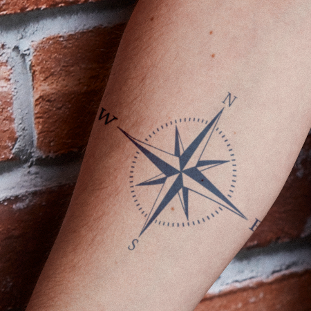 Compass Rose by Brandon Giambattista is a Travel temporary tattoo from inkbox - compliment