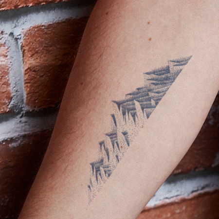 Mountain Range by Carsten Daub is a  temporary tattoo from inkbox - main