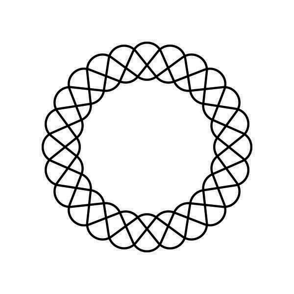 Spirograph 3 by Felipe Sena is a Geometric temporary tattoo from inkbox - stencil