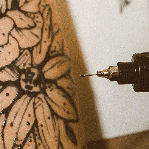1oz Freehand Ink by inkbox tattoos is a  temporary tattoo from inkbox - 3