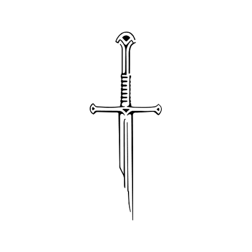 Anduril by Grace Tesmer is a Gaming & Fandom temporary tattoo from inkbox - 1