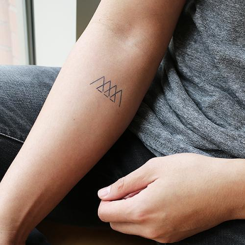 Ascend by Marion is a Geometric temporary tattoo from inkbox - 2
