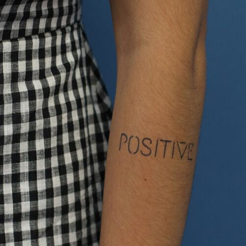 Bayes by inkbox is a Quotes temporary tattoo from inkbox - 0