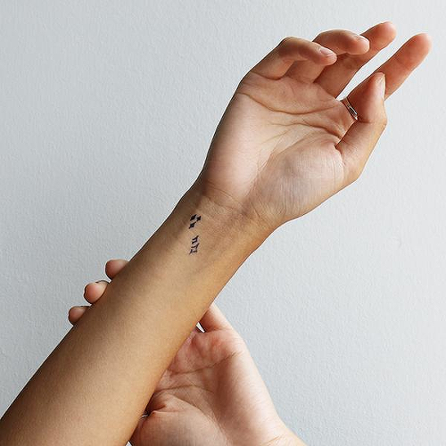 Blistati by Talia Missaghi is a Minimal temporary tattoo from inkbox - 0