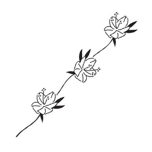 Bloom by Felipe Sena is a Flowers temporary tattoo from inkbox - 1