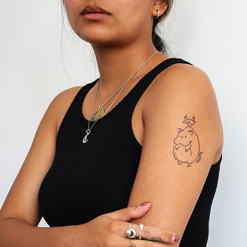 Boh by Natalie Mi is a Animals temporary tattoo from inkbox - 0