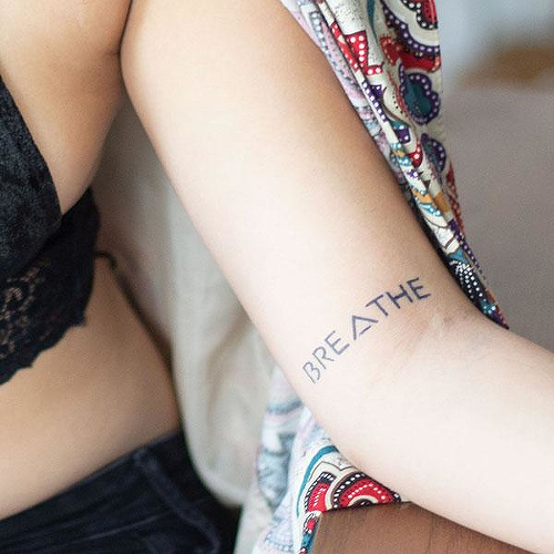 BREATHE by inkbox is a Quotes temporary tattoo from inkbox - 0