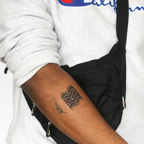 Brikav by Ben O'Neil is a Geometric temporary tattoo from inkbox - 0