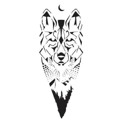 Canis Lupus by Felipe Sena is a Animals temporary tattoo from inkbox - 1