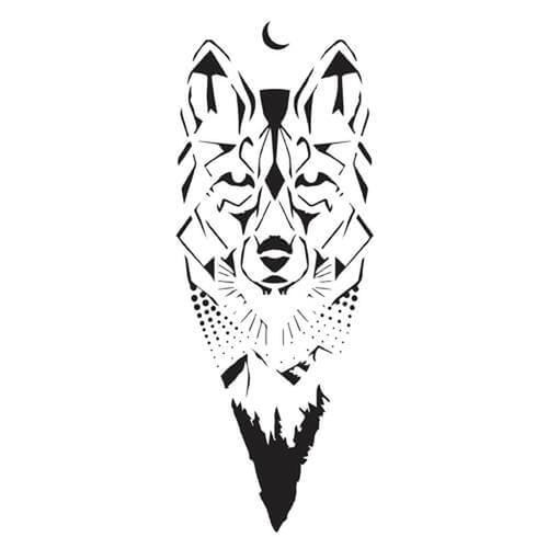 Canis Lupus by Felipe Sena is a Animals temporary tattoo from inkbox - 3