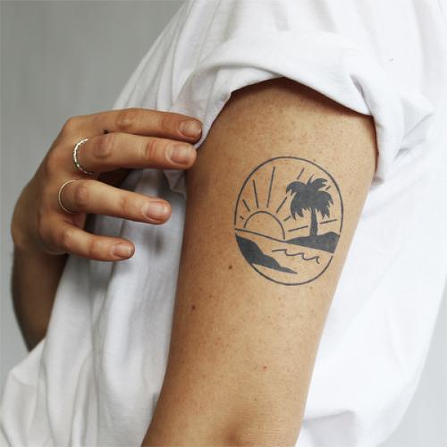 Carenero by Kristine Vodon is a Nature temporary tattoo from inkbox - 0