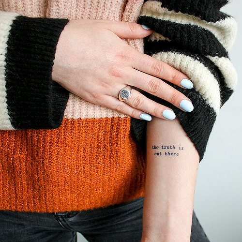 Carter by Alexis Boudal is a Quotes temporary tattoo from inkbox - 0