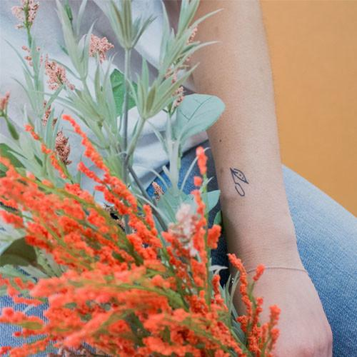 Cattail by inkbox is a Flowers temporary tattoo from inkbox - 1