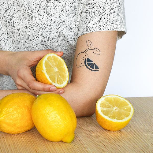 Citrus by Bella Demasi is a Minimal temporary tattoo from inkbox - 0