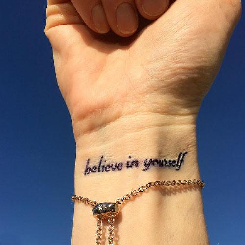 Confianza by Jack Paris is a Quotes temporary tattoo from inkbox - 1