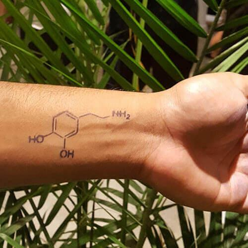 Dopamine by inkbox is a Science temporary tattoo from inkbox - 1