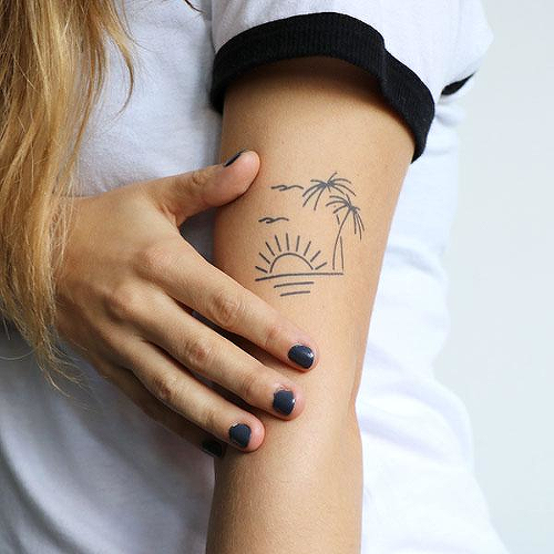 Eventide by Ignacio Hinojosa is a Nature temporary tattoo from inkbox - 0