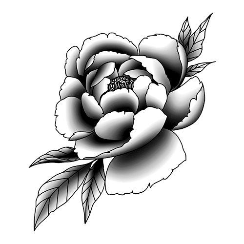 Falura by inkbox is a Flowers temporary tattoo from inkbox - stencil