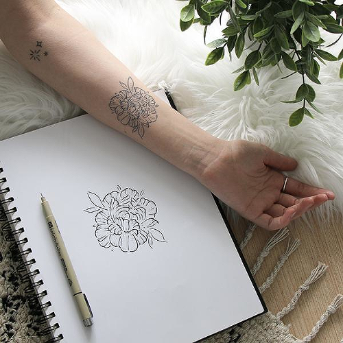 69d6e1f82c11c Fayne by Olivia-Fayne is a Flowers temporary tattoo from inkbox