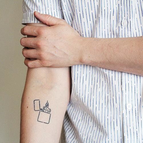 Flick It by Curt Montgomery is a  temporary tattoo from inkbox - 0