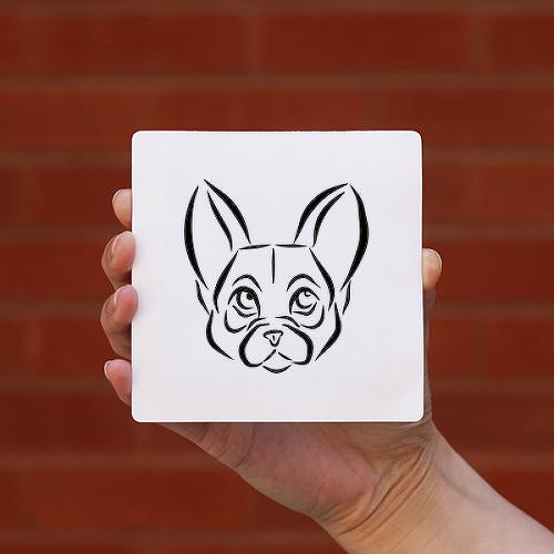 Frenchie by Lina Chambliss is a Animals temporary tattoo from inkbox - 0
