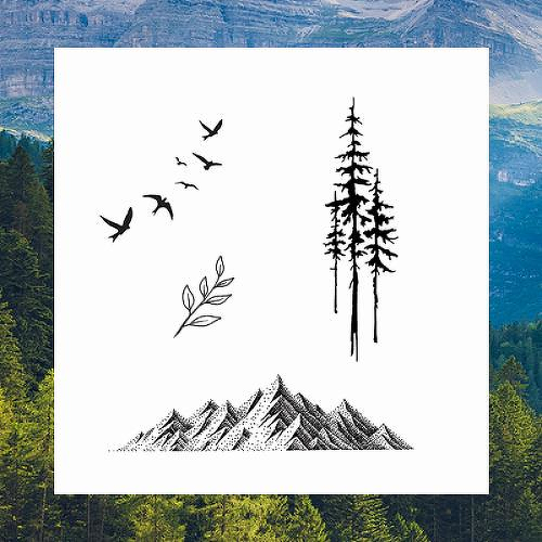 Get Outside Bundle of 4 by inkbox tattoos is a Nature temporary tattoo from inkbox - 1