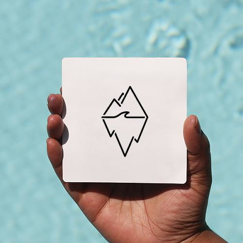 Glacier by Garreth Chan is a Geometric temporary tattoo from inkbox - 0