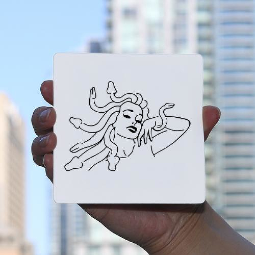 Gorgon by Sebastian Eisenberg is a Minimal temporary tattoo from inkbox - 0