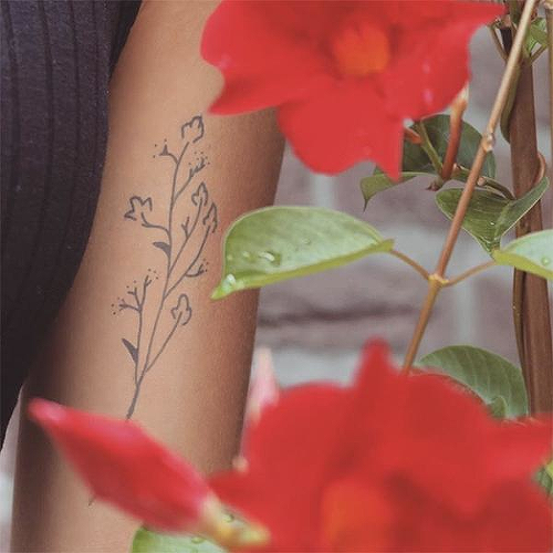 Gossypium by inkbox is a Flowers temporary tattoo from inkbox - 1