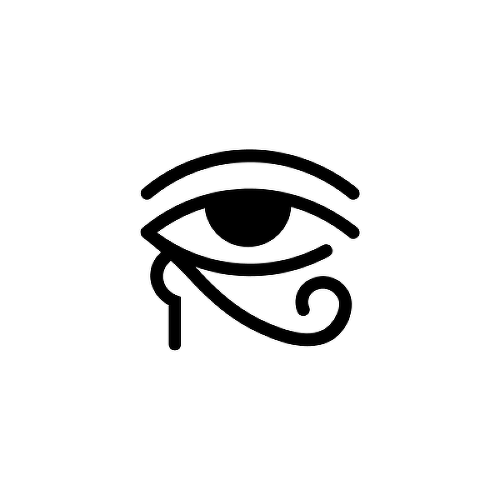 Horus by Sebastian Eisenberg is a Minimal temporary tattoo from inkbox - 1