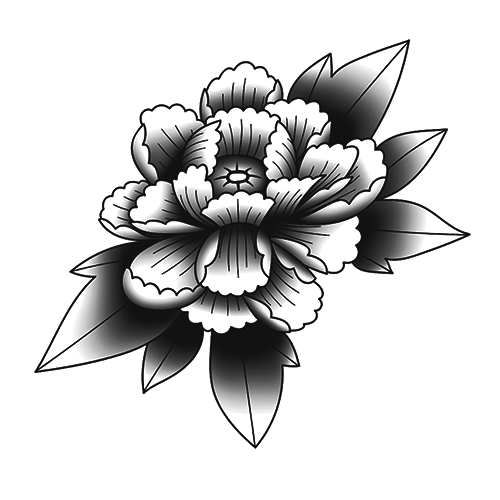 Igo by inkbox is a Flowers temporary tattoo from inkbox - stencil