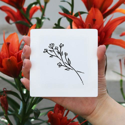Lathyrus by Xixi Wang is a Flowers temporary tattoo from inkbox - 1