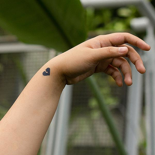 Lillehei by inkbox is a Hearts temporary tattoo from inkbox - 0