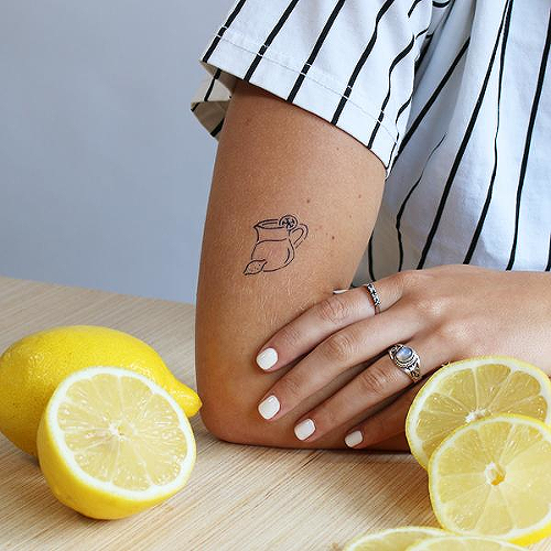 Limonata by Karmen Man is a Food & Drink temporary tattoo from inkbox - 0