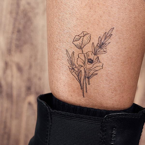Lule by Kylie Stinson is a Flowers temporary tattoo from inkbox - 2