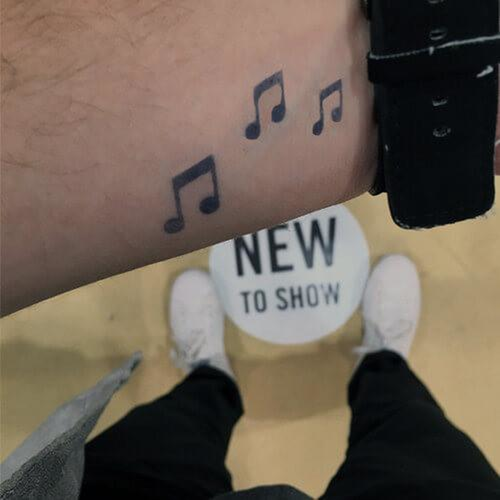 Lull by inkbox is a Music temporary tattoo from inkbox - 3