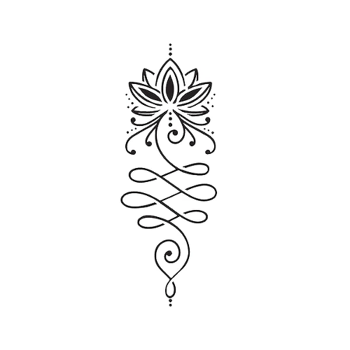 Lutea by Rafael Tato is a Flowers temporary tattoo from inkbox - 1