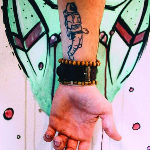 Major Tom by Kristine Vodon is a Space temporary tattoo from inkbox - 4