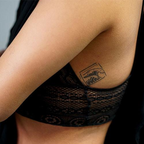 Maui by Sarah Skrlj is a Geometric temporary tattoo from inkbox - 1